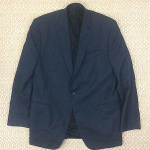 Stafford Mens Blue Classic Fit Blazer Size 46L Y54